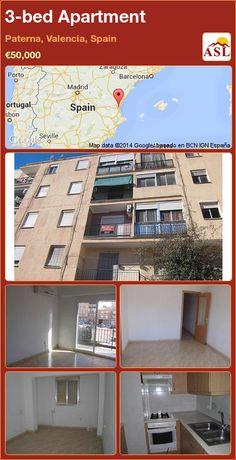 3-bed Apartment in Paterna, Valencia, Spain ►€50,000 #PropertyForSaleInSpain