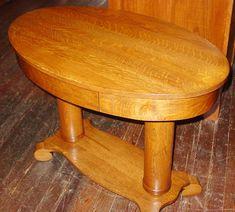Antique Oak Library Table Desk Double Pedestal Empire Feet