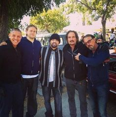 The boys of Samcro. The look on Charlies face cracks me up!.