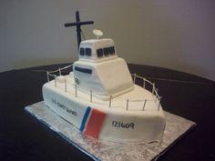 Coast Guard Cutter cake idea