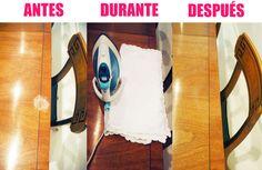 Como eliminar las manchas de los muebles