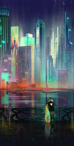 Transistor by Night Art Print