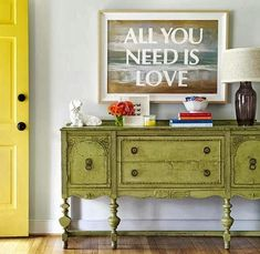 Cool DIY Wall Art. Big on Words -Painting a Saying over a Coastal Art Canvas.