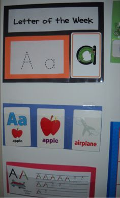 Excellent idea for kids to see what letter we are working on!!