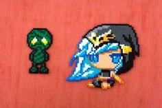 Ashe Hama beads - Amumu Hama Beads - LoL Hama bead - Ashe perler beads - Perler Ashe - Perler Amumu - League of Legends Perler - Ashe lol