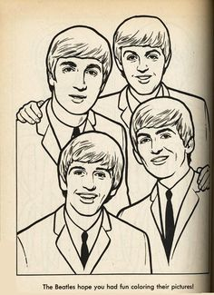 1000 images about beatles on pinterest the beatles for Beatles coloring book pages