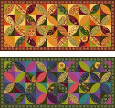 Autumn Elegance Table Runner , Archive Project, Studio E Fabrics Table Runner And Placemats, Quilted Table Runners, Quilt Patterns Free, Free Pattern, Place Mats Quilted, Quilted Ornaments, Quilted Table Toppers, Fall Quilts, How To Finish A Quilt