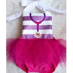 Doc McStuffins Inspired Romper With Tutu By EverAfterFairytales Mcstuffins Birthday Outfit Clothes