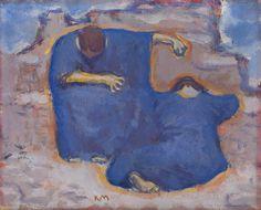 Koloman Moser (Austrian, 1868-1918), Trauernde Frauen [Mourning Women], 1913. Oil on cardboard, 28 x 34.5 cm.