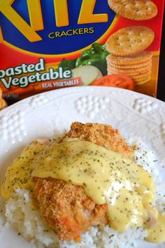 """Crispy Ritz Chicken ~ One pinner said """"if you have not tried this yet, I'm sure it will be a new family favorite! We double the crumb topping, because the kids all LOVE it!"""""""