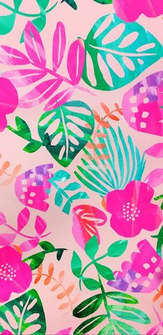 Best Ideas For Wallpaper Phone Backgrounds Pattern Pink Summer Wallpaper, Trendy Wallpaper, Pretty Wallpapers, Flower Wallpaper, Screen Wallpaper, Pattern Wallpaper, Tropical Wallpaper, Phone Backgrounds, Wallpaper Backgrounds
