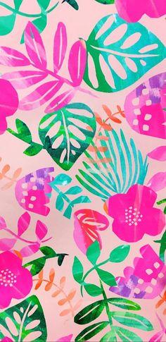 Best Ideas For Wallpaper Phone Backgrounds Pattern Pink Summer Wallpaper, Trendy Wallpaper, Flower Wallpaper, Screen Wallpaper, Pattern Wallpaper, Cute Wallpapers, Tropical Wallpaper, Print Wallpaper, Girl Wallpaper
