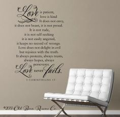 Love is patient wall decal | Wall Decals & Home Decor