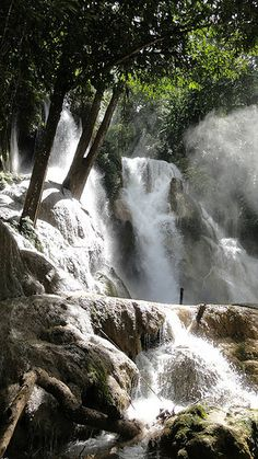 And we're going here too!    Kuang Si Falls, Luang Prabang UNESCO heritage, Southeast Asia, Laos