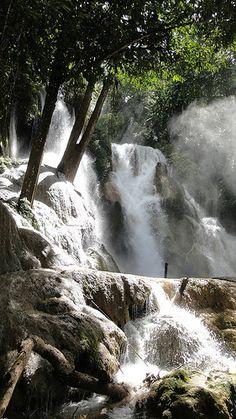 Kuang Si Falls, Luang Prabang UNESCO heritage, Southeast Asia, Laos