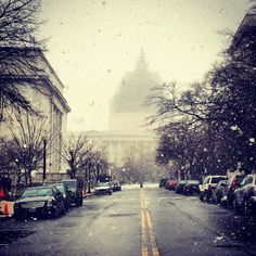 snow in dc.