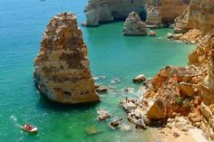 This Algarve itinerary will take surfing, beach bumming, hiking and more. Here are the best things to do while in the Algarve! Faro Portugal, Visit Portugal, Spain And Portugal, Portugal Travel, Lagos Portugal Beach, Portugal Trip, Grand Budapest Hotel, Alesund, Portugal Strand