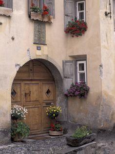 House Details, Guarda, Bernina Region, Switzerland Photographic Print by Art Wolfe at AllPosters.com
