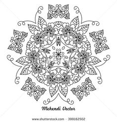 Vector black mandala. Decor for your design, lace ornament, round pattern with lots of details. Oriental style, handmade lace.