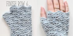 thumb fingerless glove row finish 3