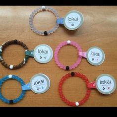 Choose 4 Lokai Bracelets Choose any 4 Lokai Bracelets from the colors: red, pink, blue, clear, and camo. Sizes available are: Small, medium, large, XL. Fast shipping! Simply comment which you would like before purchasing. Thanks :) 100% authentic Lokai Jewelry Bracelets