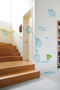 "Wall decals for hall or stairs - ""Doodle""  (Might need to wait til we have a hall. Or stairs.)"