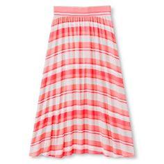 Girls' Striped Maxi Skirt Moxie Peach - Cherokee®