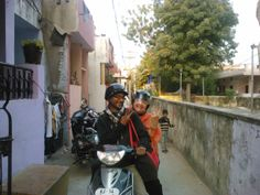 """My dear friend Anant Mathur who carefully and fatihfully enabled me to get around Jaipur on the back of his scooter and introduced me to Laxmi and Him Soni. We together started the """"Women Helping Women"""" co-op in Jaipur India. This is the formula... buy one Kantha Scarf so a family can buy 2 bags of nutritious and delicious,fresh locally grown fruit and vegetables. I saw it with my own eyes."""