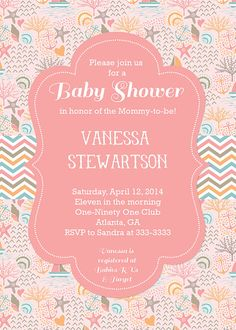 Charming Ocean Baby Shower Invitation Beach Baby Shower By PartyPopInvites