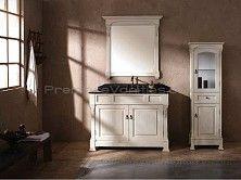 Single Bathroom Vanities - 60 Inch Bathroom Vanity with Antique White Finish