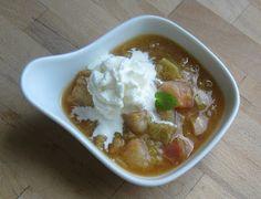 Schnelles Rhabarberkompott mit Orange - rhubarb compote with orange
