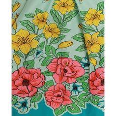 'Bernice' Mint Green Floral Bee Print Swing Dress