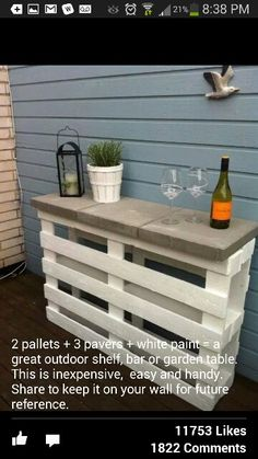 Pallet sideboard but Paint it with sunflowers
