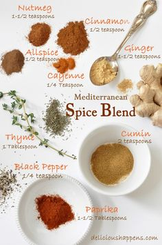 from The Harvest Kitchen I use this Mediterranean Spice Blend for my Mediterranean Chicken with Garlic Tomato Sauce. Amazing combo of flavors! Homemade Spice Blends, Homemade Spices, Homemade Seasonings, Spice Mixes, Mediterranean Seasoning, Mediterranean Spices, Seasoning Mixes, Chicken Seasoning, Rub Recipes