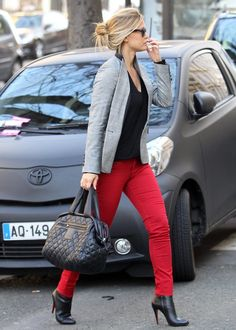 Red pants - I actually like this look!