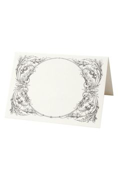 """Set of 12 double-sided tented place cards. High quality thick paper that is made of recycled materials. An elegant way to create beautiful seating arrangements. Designed & Made in the USA.    Size: 6"""" x 5.5"""" (unfolded)   Italian Place Cards by Lavender Blue. Home & Gifts - Home Decor - Dining - Table Accessories Los Angeles, California"""