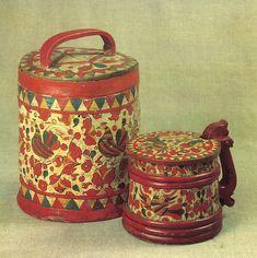 Туес и жбан. Середина XIX века. Пермогорье