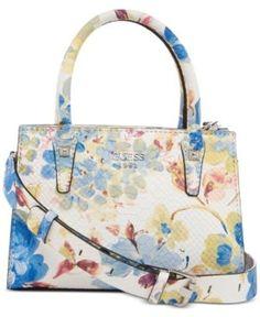 a94d610a82 Guess Loree Mini Satchel - Blue Satchel Handbags