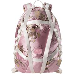 Fenty Puma By Rihanna Floral Jacquard Parachute Backpack ($350) ❤ liked on Polyvore featuring bags, backpacks, handbags backpacks, daypack bag, floral print bags, rucksack bags, flower print bag and floral print backpack