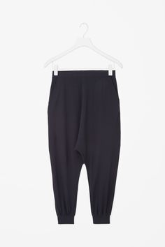 Oversized drop-crotch trousers