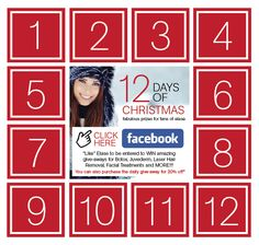 Announcing the Elase 12 Days of Christmas Facebook Contest!!! Starting December 6th, each business day through December 23rd you can enter to win INCREDIBLE prizes from Elase - FREE Botox, Juvederm, Facial Treatments, Laser Hair Removal, and more! AND visit an Elase spa location to purchase the daily prize at 20% off! 'Tis the season to give, and we'd like to give our fantastic fans The Gift of Elase.