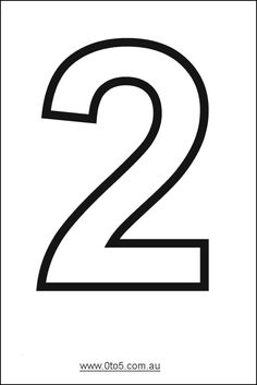 Number - two printable template