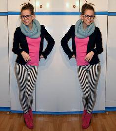 stripped leggins