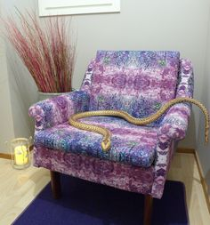 KyyPurple. A little viper is staring in this beautiful fabric!