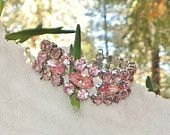 The Mother of the Bride wears Pink ~ We Love Vintage - wlv team, Ecochic    Bridal Pink Weiss Rhinestone Bracelet, Lovely... Summer Perfect, Original Vintage Condition