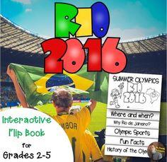 Summer Olympics 2016 Flip Book: An Interactive Activity for Grades 2-5