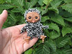 OOAK Eule EMILIA -- 8 cm -- Künstlerteddy Miniatur Baby Eule UNIKAT OOAK handmade fantasy animal OWL Emilia  by mam-m-mi