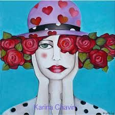 karina chavin arte - Buscar con Google Art Pop, Woman Painting, Painting For Kids, Abstract Faces, Whimsical Art, Illustrations, Fabric Painting, Face Art, Cute Illustration