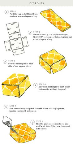 #seating, #diy, #home-decor, #ottoman, #pouf, #rug, #yellow, #ikea-hack  Photography: Ruth Eileen - rutheileenphotography.com  Read More: http://www.stylemepretty.com/living/2014/03/11/tips-on-starting-an-indoor-herb-garden/