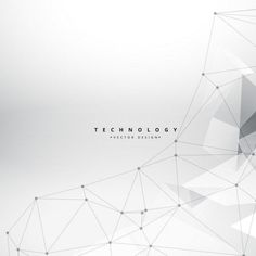 Technology triangles background Free Vector